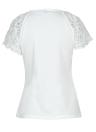 Frauen-Blumenspitze-Hülsen-T-Shirt Selbstbindungs-kurze Hülsen-grundlegende T-Oberseiten