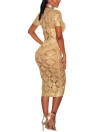 Women Hollow Out Sheer See-through Knitted Dress