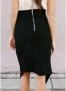 Falda de Lápiz Irregular de Color Sólido para Mujer