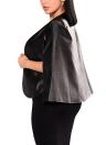Mode Femmes PU Veste en Cuir Ouvert Devant Split Lâche Cap Manteau Survêtement