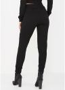 Женщин с капюшоном и брюками Set Stripe Side Zip Up Drawstring Waist