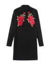 Femmes sexy velours florale broderie moulante gaine mini robe