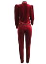 Полосатые карманы с застежкой-молнией с длинными рукавами Повседневный тонкий спортивный костюм
