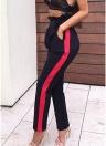 Pantalones largos ocasionales de las mujeres pantalones cortos del harén de la cintura alta del vendaje delgado