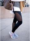 Frauen Sport Yoga Leggings Mesh Laufhose Gym Fitness Workout Skinny Hosen