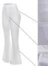 Pantalones de mujer de moda de cintura alta elástica Bell bottom
