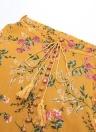 Boho Print Longo Split Floral cintura alta Praia Vintage Saia