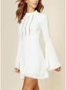 Женское фигуристское платье выдолбленное платье высокой длины с длинным рукавом Bodycon