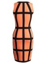 Сексуальное платье женщин нашивки O образным вырезом без рукавов Clubwear Тонкий Sundress