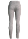 Las mujeres delgadas atractivas de gamuza sintética polainas Pantalones Solid botones laterales de la cremallera de los pantalones elegantes de la aptitud flaco del lápiz