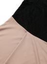 Lace Splice Thigh Split V Neck Half Sleeve Belt Slim Maxi Dress