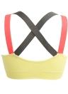 Женский спортивный бюстгальтер с широким крестом Упругие контрастные цвета Дышащие мягкие беспроводные йоги Фитнес-тренировки Танк бюстгальтер Бюстгальтер