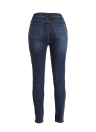 Jeans Denim Ripped trous Détruits Pantalons Zipper Slim Skinny