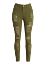 Mode Skinny Jeans taille haute Stretchy Ripped Pantalons trou Crayon