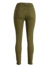 Moda Vaqueros ajustados de cintura alta elástico rasgado agujero lápiz de los pantalones