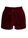 Nuevo atractivo de las mujeres de cintura alta punky caliente casual Pantalones cortos Negro / Borgoña / Naranja