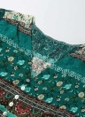 Las mujeres de la manera imprimen el botón con cuello en v dividido Vestido largo de Boho