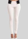 Pantalon Slim élastique Boutons taille basse sexy moulante Skinny Crayon Leggings