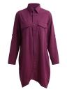 Linen Long Blouse Irregular Hem Buttons Loose Casual Vintage Top Shirt Dress