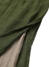 Robe vintage en lin Split Irregular Hem Casual Loose Boho Long Maxi Dresses
