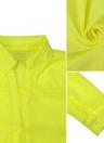 Mulheres Moda Primavera shirt de manga comprida Vire-down Collar Asymmetric Sólidos Casual solta Top Blusa