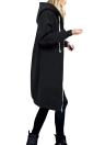 Fashion Women Hoodie Long Hooded Coat Casual Pockets Solid  Jacket