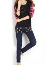 Women Plus Size Shirt Plaid Long Sleeves High-Low Hem Round Neck  Blouse