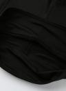 Femmes Jambières Jambières Haute taille Croix Élastique Sports Exercice Fitness Noir