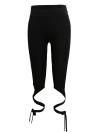 Women Tie Leggings High Waist Cross Elastic Sports Workout Fitness Black