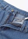 Nueva Moda Mujeres Denim Patch Washed mediados cintura recortada Slim Jeans