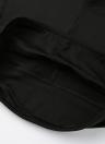 Polainas de las mujeres del recorte recortada pantalones de cintura alta elástico se divierte entrenamiento de la aptitud Medias Pantalones Negro