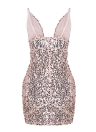 Sexy Sequined  Backless Club Women's Bodycon Mini Dress