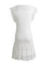Лето шнурка женщин платье без рукавов O шеи кисточкой вскользь платье мини Straight Sundress Сдвиг платье белый / черный