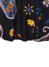 Summer  Vintage Floral Print Sleeveless  A-Line Women's Dress