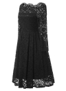 Flare Flare Formal Party Manga Comprida Prom Dress
