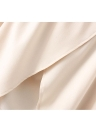 Off Shoulder Floral Embroidery Flare Sleeve Irregular Hem Women's Loose Top
