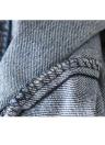 Bordado rasgado agujero vaqueros lavados del Flaco mujeres