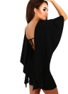 Sexy Frauen Bodycon-Partei-Kleid mit Rüschen Layered-halbe Hülsen-festes beiläufiges Clubwear Mini-Bleistift-Kleid