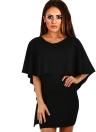 Sexy Bodycon Layered Half Sleeve Solid Women's Mini Dress