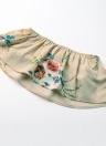Gasa de las mujeres de dos piezas sin tirantes de la cosecha camisetas Pantalones de pierna ancha de la impresión floral trajes de talle alto spilit Beach Boho