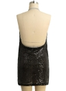 Damen Pailletten Plunge V Bodycon Minikleid