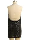 Sequinho feminino Plunge V Bodycon Mini Dress