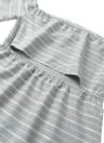 Mulheres Sexy Mini Vestido listrado Alças Sem Costas Figura para recortar Meio alargamento mangas Elegante Casual vestido de festa Grey