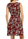 Vintage Floral Print V Neck Sleeveless Zipper A Line Women Mini Sundress