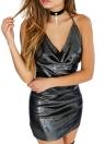 Sexy Halter Strappy Backless V Neck Club Women's Bodycon Mini Dress