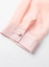 En mousseline de soie élégante Sheer unique poitrine col en V femmes Chemisier Thin