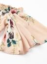 Sexy Floral Encolure Cravate Flare manches à volants femmes Romper
