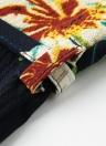 Moda floral impresión V-cuello Backless Belted pierna ancha Boho Rompers