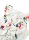 New Sexy Women Floral Print Plunge V Neck Lace-Up Ruffled Mini Dress