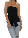 Mujeres sin tirantes bustier Top Bralette camisola tanque sólido casual elegante fiesta clubwear blanco / negro